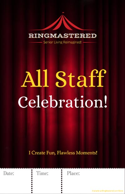 "All Staff Celebration Poster 11"" x 17"""