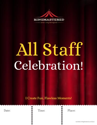 "All Staff Celebration Poster 8.5"" x 11"""